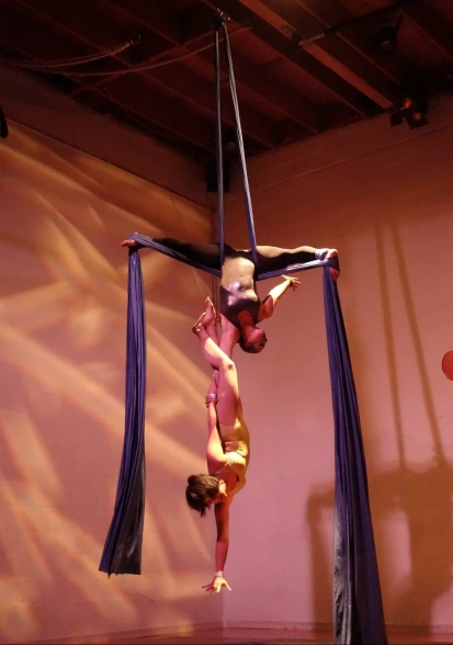 Me and Cristina performing our Aerial Duo