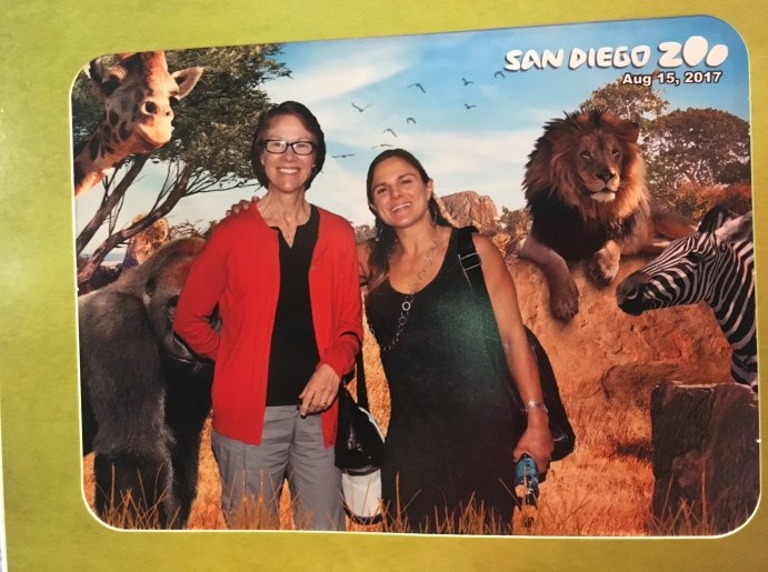 Lee Solter (one of my idols!) and I at the Zoo
