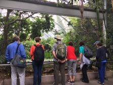 Microsporidian researchers discussing the potential species of microsporidia in the birds at the Zoo