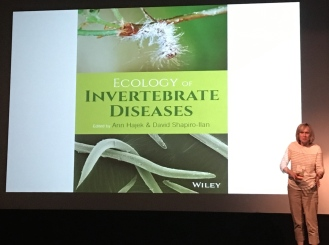 Ann Hajek at the beginning of a symposium featuring the authors of the new book - Ecology of Invertebrate Diseases.. .I can't wait to get this book!